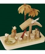 Nativity Wooden Candleholder