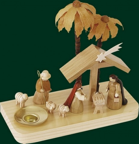 Nativity Wooden Candleholder - TEMPORARILY OUT OF STOCK