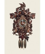 TEMPORARILY OUT OF STOCK  Hubert Herr Middleburg Cuckoo Clock Fox - Fuchs