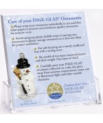 FREE German Glass Ornament Care Info Sheet