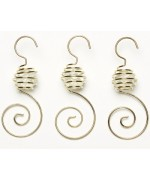 TEMPORARILY OUT OF STOCK <BR><BR> Spiral Ornament Hooks