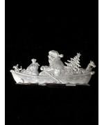 Wilhelm Schweizer Unpainted Pewter Anno 1990 Sailor Santa