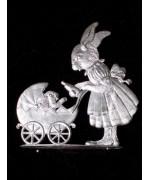 Wilhelm Schweizer Unpainted Pewter Anno 1992 Mama Bunny