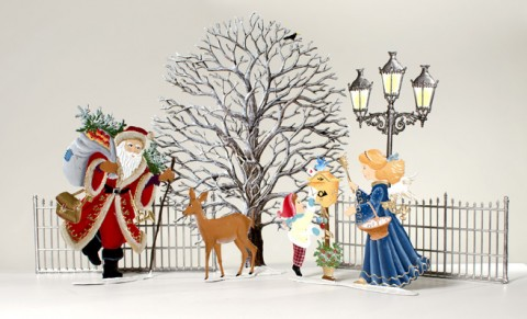 TEMPORARILY OUT OF STOCK - Christmas in the Park Christmas Pewter Wilhelm Schweizer