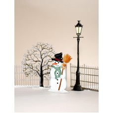 Snowman in the Park Christmas Pewter Wilhelm Schweizer - TEMPORARILY OUT OF STOCK