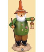 Mueller Smokerman Erzgebirge Gnome with Lantern