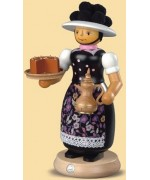 Mueller Smokerman Erzgebirge Black Forest Woman  with Rauchender Pot