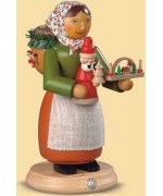 Mueller Smokerman Erzgebirge Wooden Christmas Saleswoman