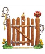 Garden Wooden Gate in Summer