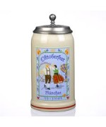 TEMPORARILY OUT OF STOCK <BR><BR>  The Official Munich Oktoberfest 2011 Beerstein with Tin lid  -