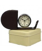 TEMPORARILY OUT OF STOCK <BR><BR> Roger Lascelles  Genuine Leather Clock