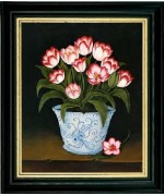 Blue & White Vase of Tulips' - TEMPORARILY OUT OF STOCK