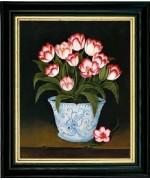 Blue & White Vase of Tulips'