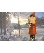 TEMPORARILY OUT OF STOCK  Ino Schaller Paper Machee Santa 'Large-red'