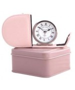 Roger Lascelles  Pink Leather Clock