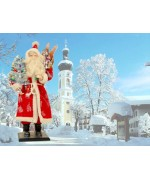 TEMPORARILY OUT OF STOCK - Ino Schaller Paper Machee Santa Large Old Red with Tree
