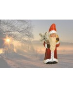 TEMPORARILY OUT OF STOCK <BR><BR> Ino Schaller Paper Machee Santa ' with Toy Sack'