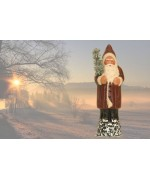 TEMPORARILY OUT OF STOCK - Ino Schaller Paper Machee Santa with Tree