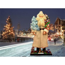 Ino Schaller Paper Machee Santa 'Large  with Tree' TEMPORALLY OUT OF STOCK