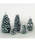 TEMPORARILY OUT OF STOCK <BR><BR> Group of  5 Snow Trees Seiffener Fichten