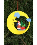 Christian Ulbricht German Ornament Santa with Sled in Moon