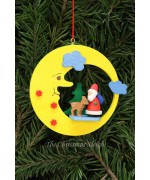 Christian Ulbricht German Ornament Santa with Bambi in Moon - TEMPORARILY OUT OF STOCK