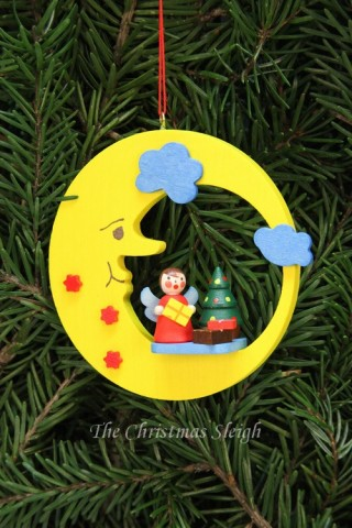 Christian Ulbricht German Ornament Angel with Tree on Moon - TEMPORARILY OUT OF STOCK