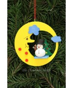 Christian Ulbricht German Ornament Snowman in Moon