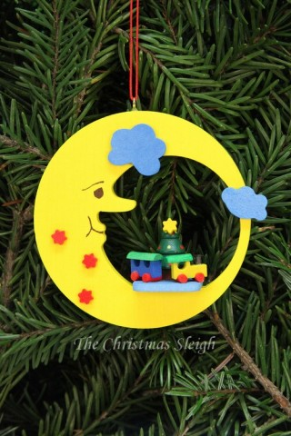 Christian Ulbricht German Ornament Train in Moon - TEMPORARILY OUT OF STOCK