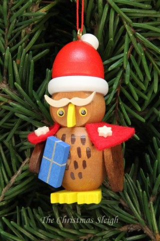 Christian Ulbricht German Ornament Owl Santa