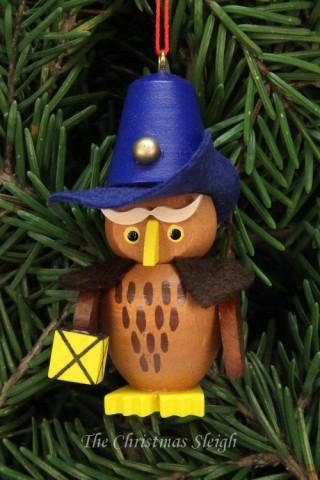 Christian Ulbricht German Ornament Owl Nightwatchman