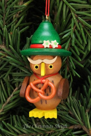 Christian Ulbricht German Ornament Bavarian Owl - TEMPORARILY OUT OF STOCK