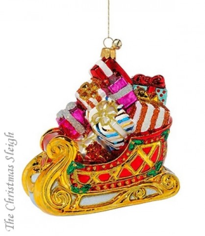 TEMPORARILY OUT OF STOCK JingleNog  Glass Ornaments  Holiday Delivery
