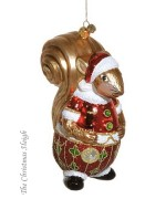 TEMPORARILY OUT OF STOCK JingleNog  Glass Ornaments  Scottie