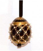 TEMPORARILY OUT OF STOCK - Peter Priess of Salzburg Hand Painted A Christmas Egg