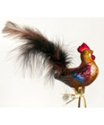 TEMPORARILY OUT OF STOCK - Mouth Blown Glass Ornament Rooster
