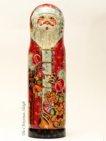 TEMPORARILY OUT OF STOCK - Santa with Gifts  Bottle Holder  G. DeBrekht