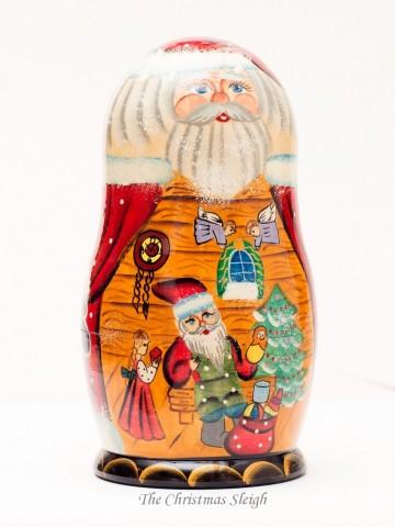 Santa's Workshop Nesting Doll G. DeBrekht