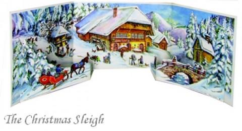 Old German Paper Advent 3D Calendar