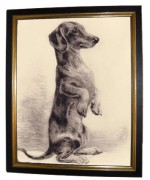 Dachshund Copper Etching Print