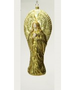 Mouth Blown Glass Ornament 'Gold Angel'