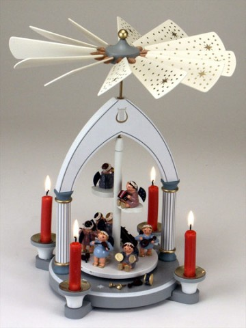 TEMPORARILY OUT OF STOCK <BR><BR> Angelic Handpainted Pyramid Made in Germany