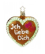 Inge-Glas Ornament Ich liebe Dich