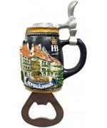 Hofbräuhaus München Beer Bottle Opener Magnet