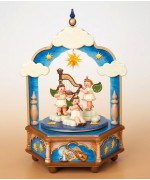 TEMPORARILY OUT OF STOCK - Stille Nacht Music Box Original HUBRIG Wooden Figuren - MD