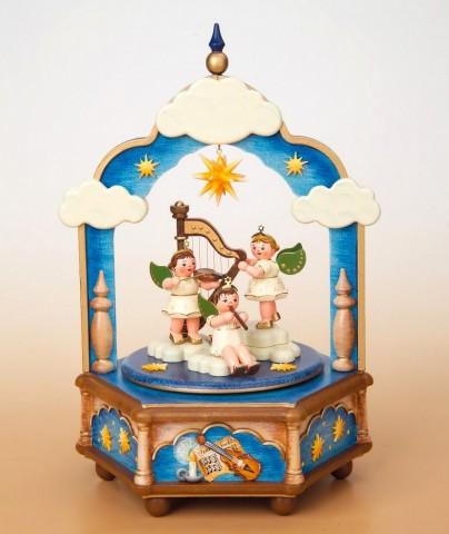 Stille Nacht Music Box Original HUBRIG Wooden Figuren - TEMPORARILY OUT OF STOCK