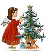 Girl Decorating the Tree Anno 1992 Christmas Pewter Wilhelm Schweizer