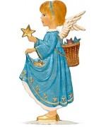 Angel with Star Anno 1993 Christmas Pewter Wilhelm Schweizer