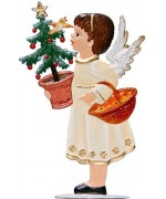Angel with Basket Anno 1997 Christmas Pewter Wilhelm Schweizer