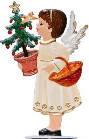 Angel with Basket Anno 1997 Christmas Pewter Wilhelm Schweizer